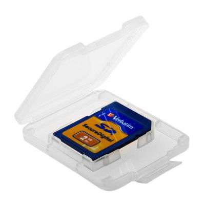 DigiStone優質 SD/SDHC 1片裝記憶卡收納盒/白透明色 (10個)