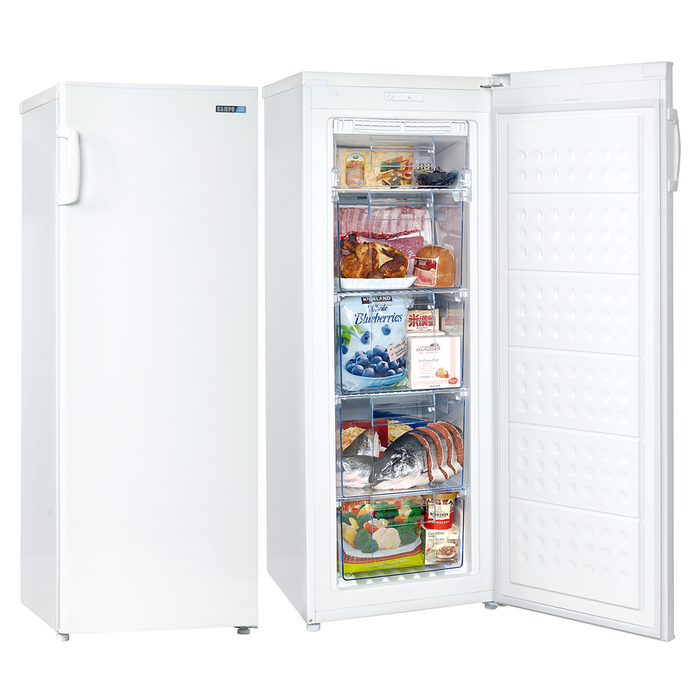 SAMPO聲寶 170L 直立無霜冷凍櫃 SRF-170F 白色