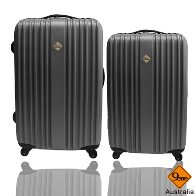Gate9五線譜系列ABS材質超值兩件組24吋+20吋旅行箱/行李箱 -酷灰