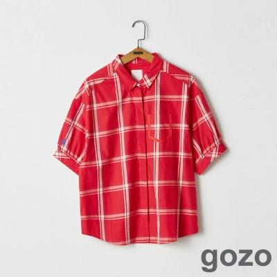 gozo 田園搖滾英倫格紋襯衫(二色)