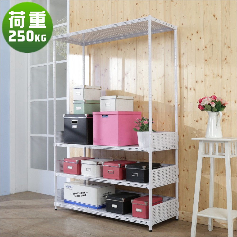 BuyJM洞洞板90x45x180cm耐重四層置物架+3組圍欄-DIY