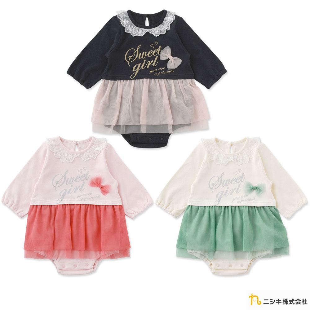 Nishiki 日本株式會社 長袖紗裙蝴蝶結包屁洋裝