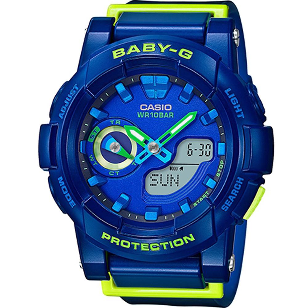 Baby-G 亮眼配色運動錶(BGA-185FS-2A)-藍/44mm