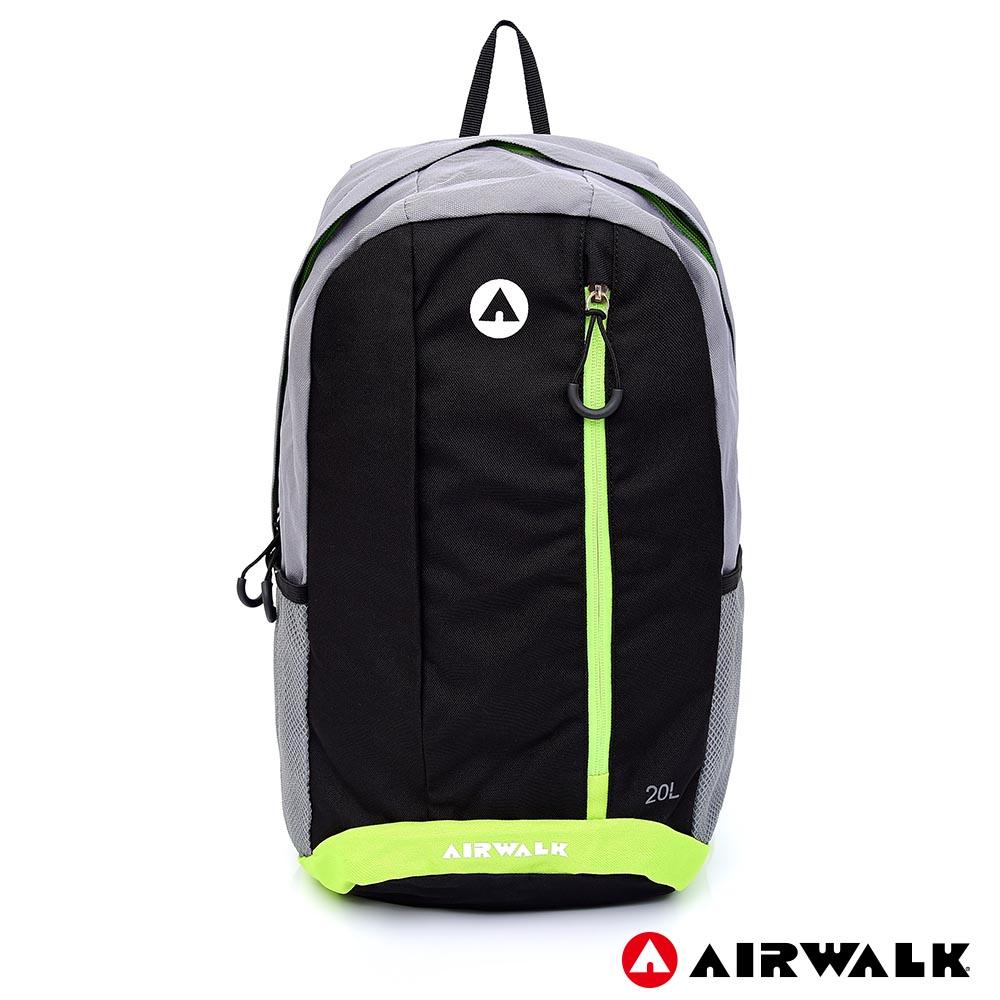 【AIRWALK】青春主張休閒後背包-黑色