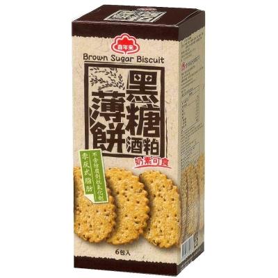 喜年來-黑糖酒粕薄餅-120g-6包-盒-3盒組