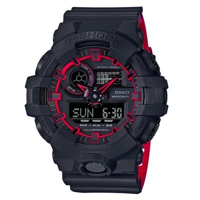 G-SHOCK街頭創新螢光元素設計休閒錶(GA-700SE-1A4)紅線圈53.4mm