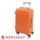 MONTAGUT夢特嬌-28吋 蜜糖夾心窄鋁合金 行李箱-甜心橘