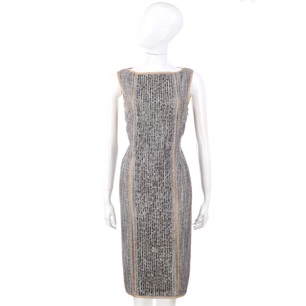 ALBERTA FERRETTI 銀色珠飾背心洋裝