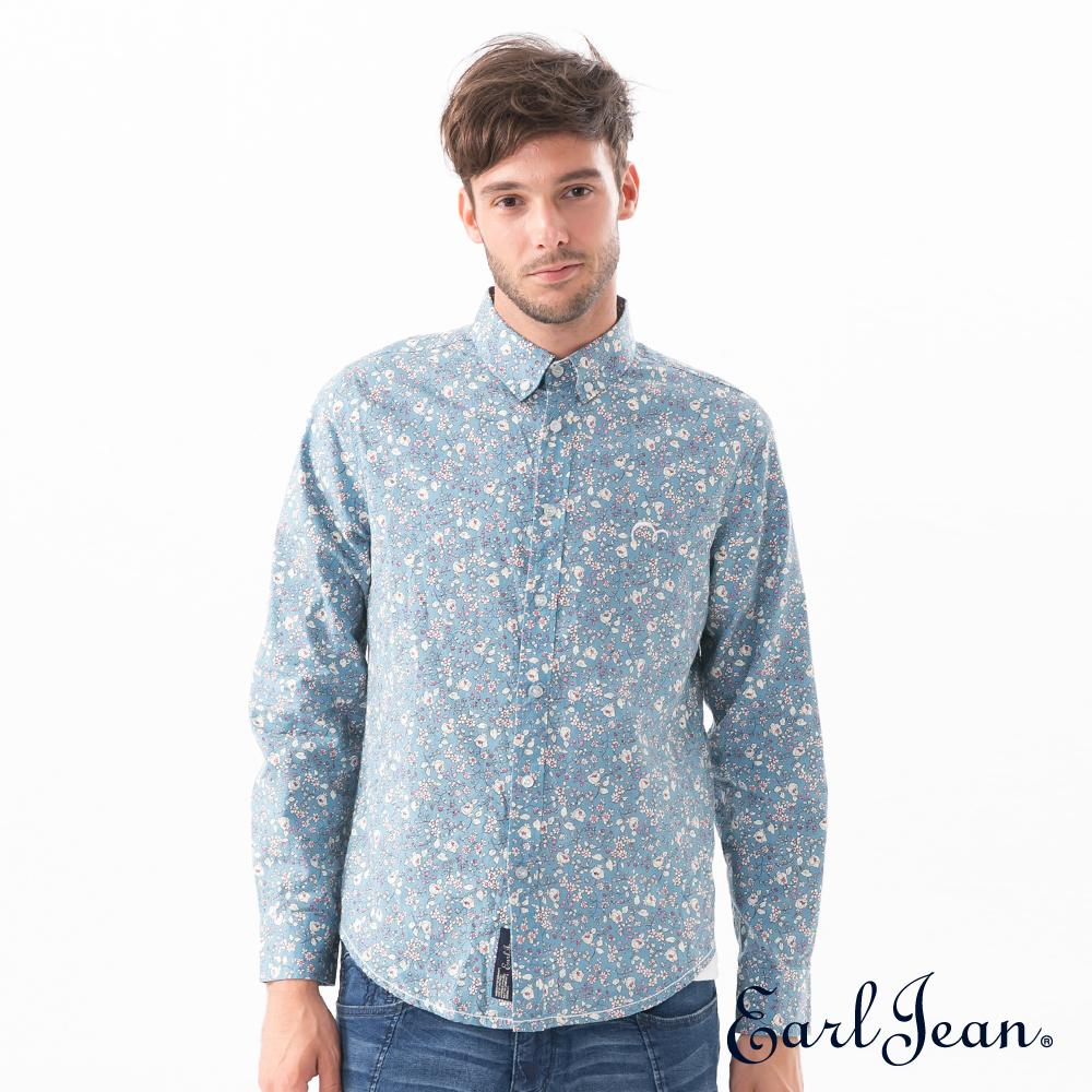 Earl Jean水藍滿版碎花襯衫-男