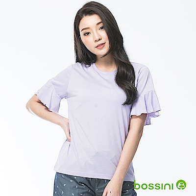 bossini女裝-圓領短袖上衣10丁香紫