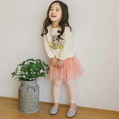 BEBEZOO 粉色紗裙內搭長褲