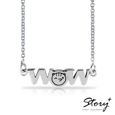 STORY故事銀飾-方頭獅元氣森林-驚喜多多鼠純銀項鍊