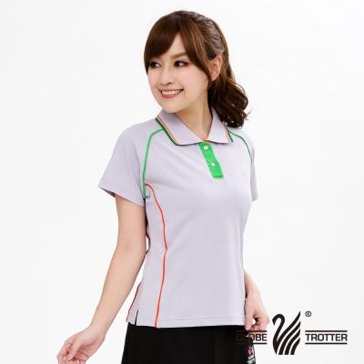 【遊遍天下】MIT台灣製女款抗UV涼爽吸濕排汗機能POLO衫S083淡紫