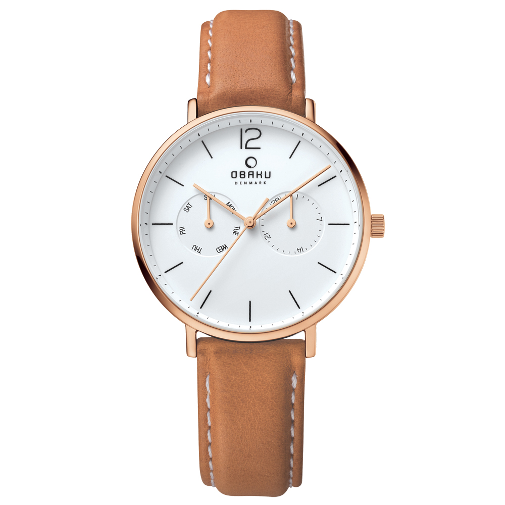 OBAKU 丹麥皇家簡約雙眼時尚腕錶-V182GMVWRZ/40mm