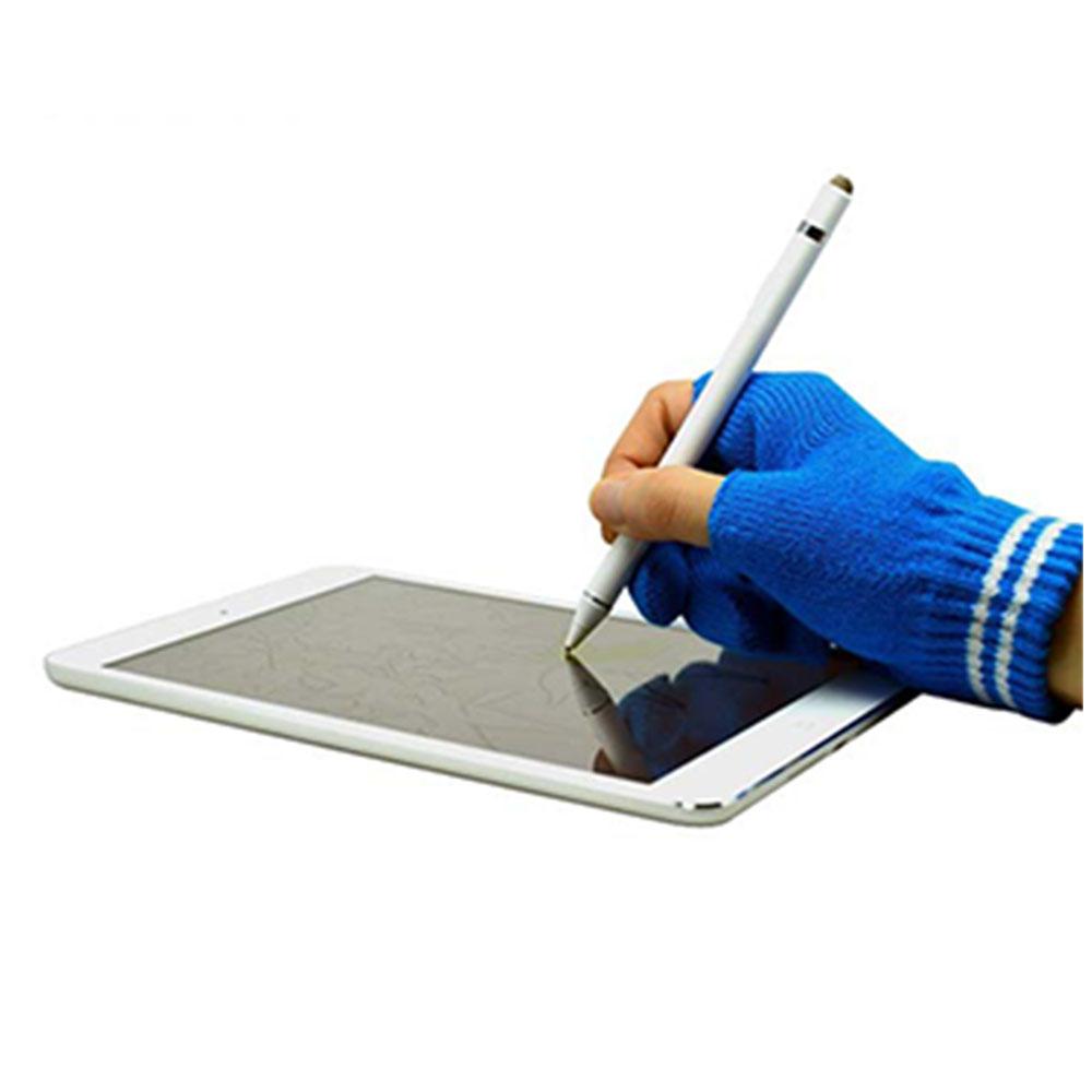 下殺~限時特價 志佳1.5mm筆尖USB充電主動式觸控筆手寫筆+防誤觸手套(白筆身+藍手套