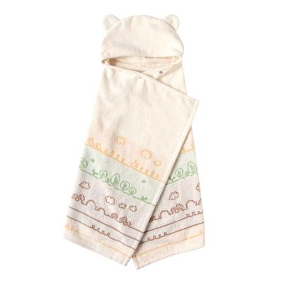 Hoppetta 有機棉童趣森林熊耳朵浴巾