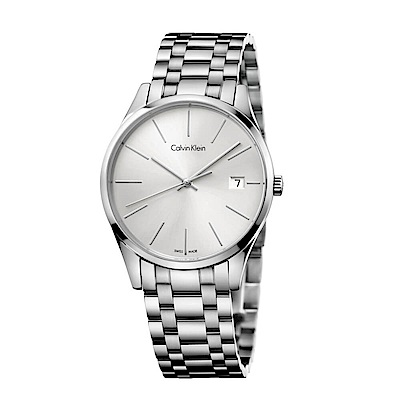 CK CALVIN KLEIN Time 時光系列白色面盤女錶-36mm