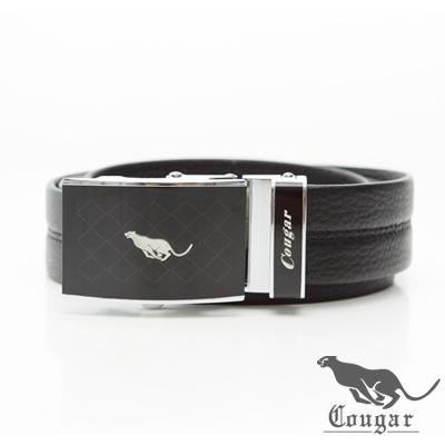 Cougar美洲豹歐式威廉滑扣式牛皮皮帶