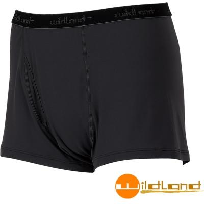 Wildland 荒野 透氣快乾排汗開洞四角褲/內褲 男W1680-54黑色