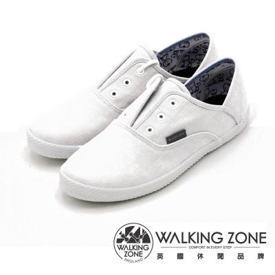 WALKING ZONE果漾YOUNG純棉帆布鞋休閒鞋 女鞋-白