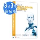 ESET Multi-Device Security 網路安全 三人三年多平台盒裝版