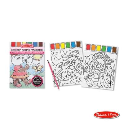 美國瑪莉莎 Melissa & Doug  兒童水彩繪圖本, 附水彩及畫筆【粉紅色】