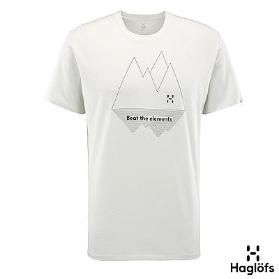 Haglofs 男 Gamper 有機棉T恤 薄霧/磁鐵色