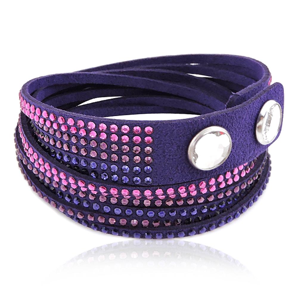 SWAROVSKI紫色Slake水晶鑲嵌手鏈手環