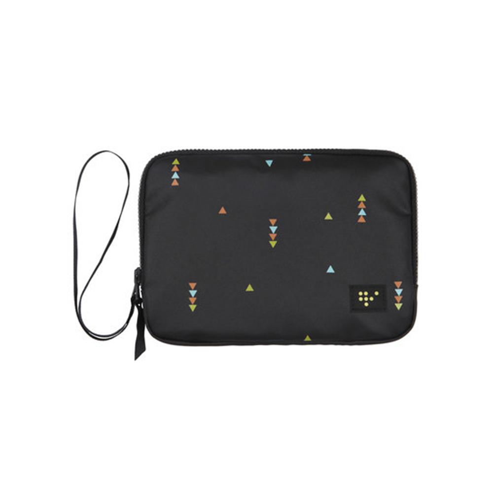 雙層護照收納包 多功能手拿證件包 化妝包 3C周邊收納