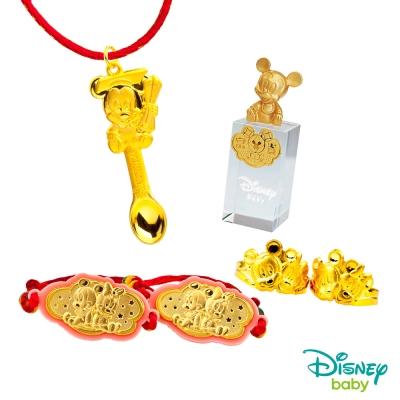 Disney迪士尼系列金飾 彌月金飾印章套組木盒-榜首米奇款-米奇造型印章 <b>0</b>.95錢