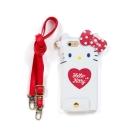 Sanrio HELLO KITTY iPhone6珠光PU皮革造型保護套附頸帶