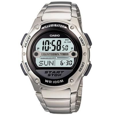 CASIO 10年電力先鋒不鏽鋼錶(W-756D-1A)-40.6mm