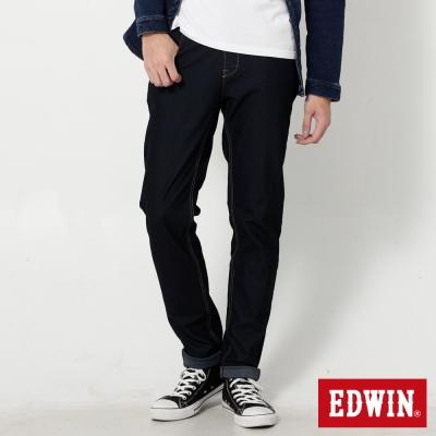 EDWIN 迦績褲JERSEYS紅黑格腰頭AB牛仔褲-男-原藍色