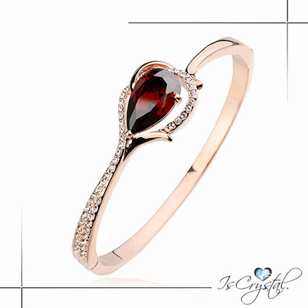 伊飾晶漾iSCrystal 水晶耀鑽 流線金框手環