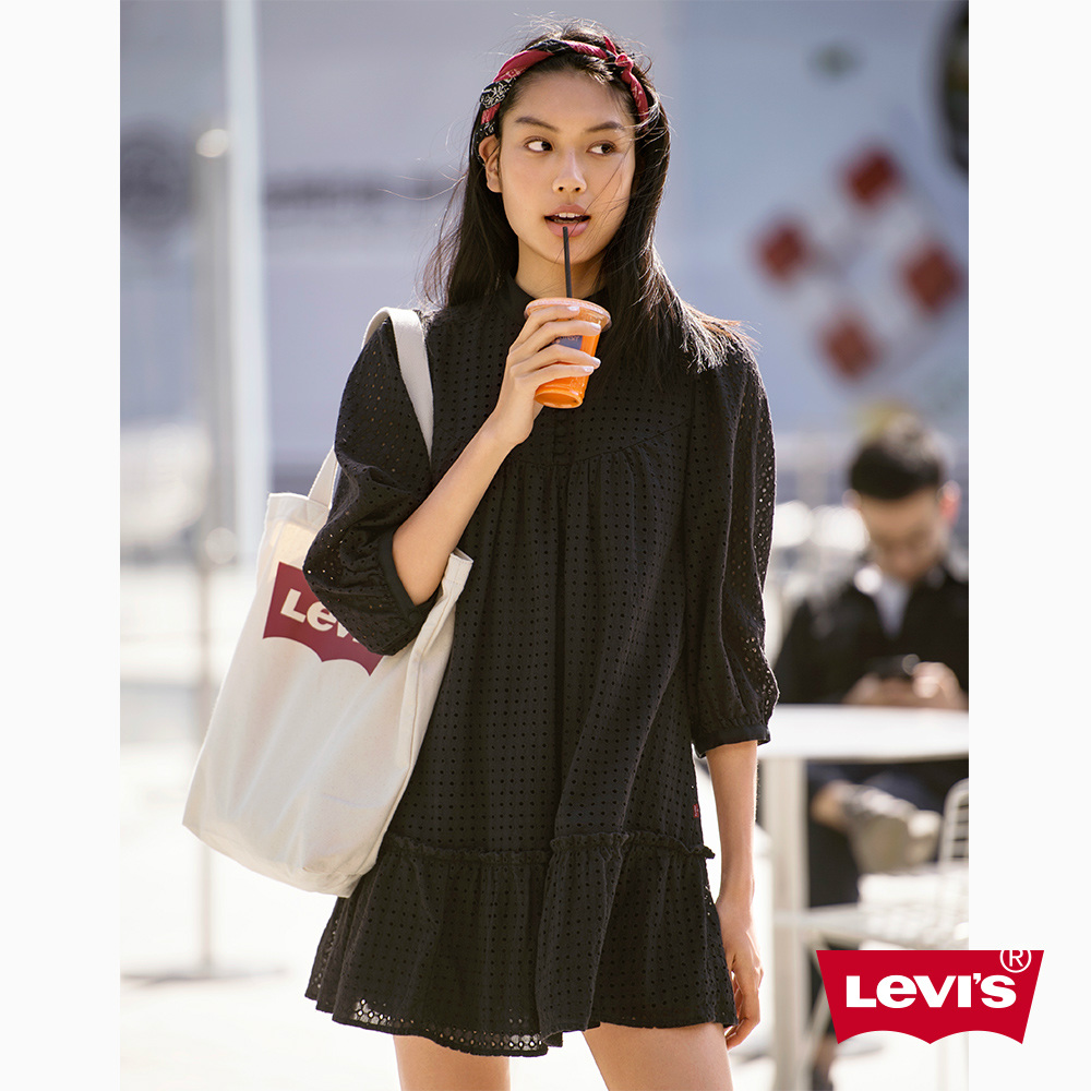 Levis 連身洋裝 黑色圓點