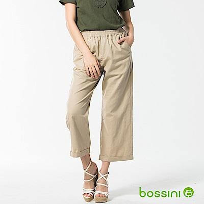 bossini女裝-休閒棉麻長褲02淺卡其