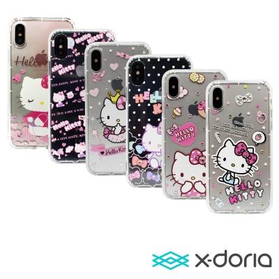 X-doria iPhone X  氣墊式凱蒂水鑽系列保護殼