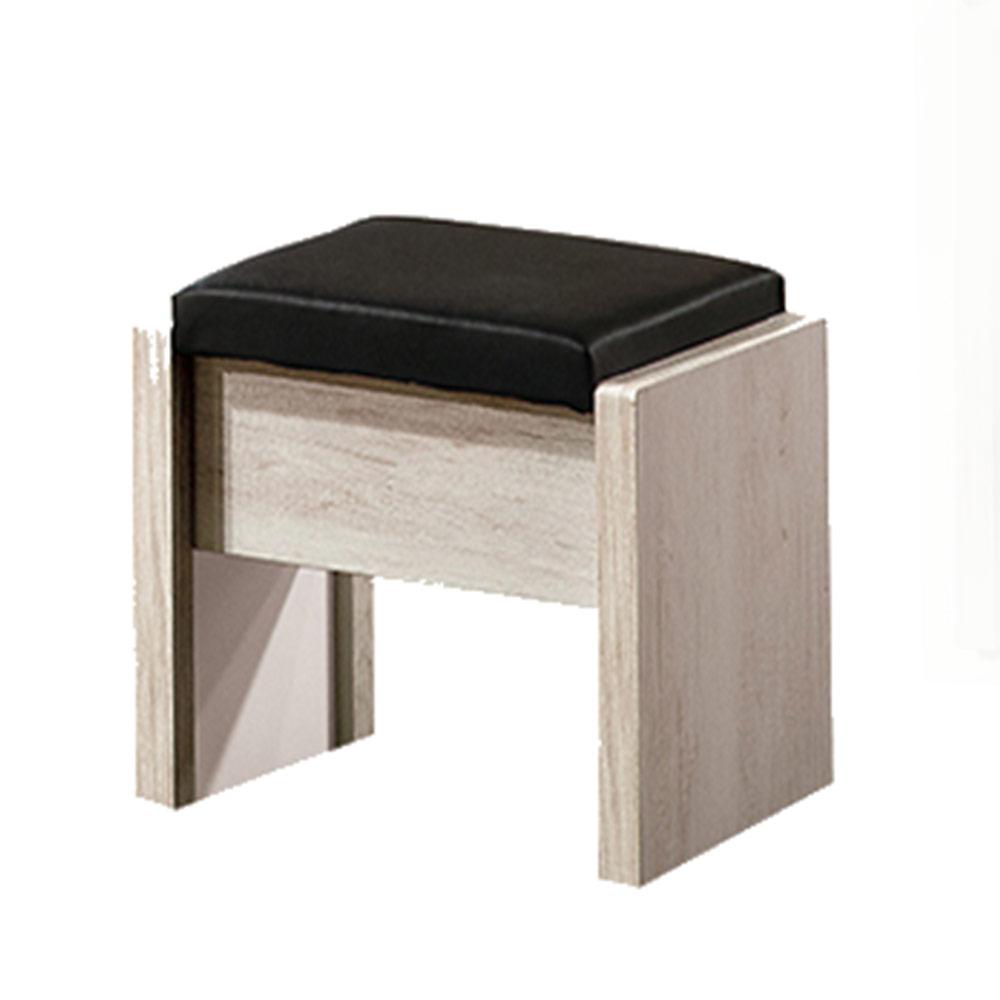 H&D 狄倫古橡木化妝椅43.5x30x43CM
