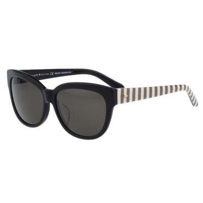 Kate Spade-時尚紋路 太陽眼鏡(黑色)