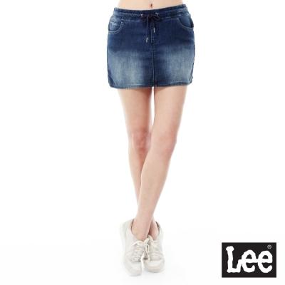 Lee 牛仔抽繩短裙Regional列-女款-藍