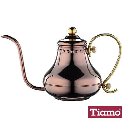 Tiamo 不鏽鋼宮廷式細口壺<b>0</b>.7L-玫瑰金(HA8566)