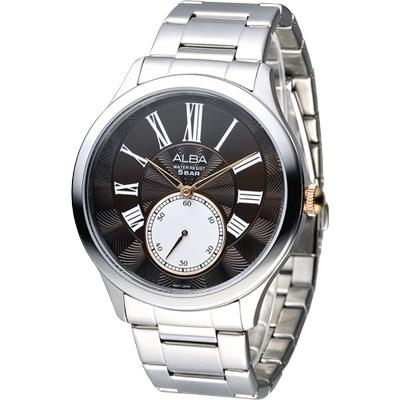 ALBA 羅馬騎士風情小秒針時尚腕錶(AN4025X1)-黑/43mm