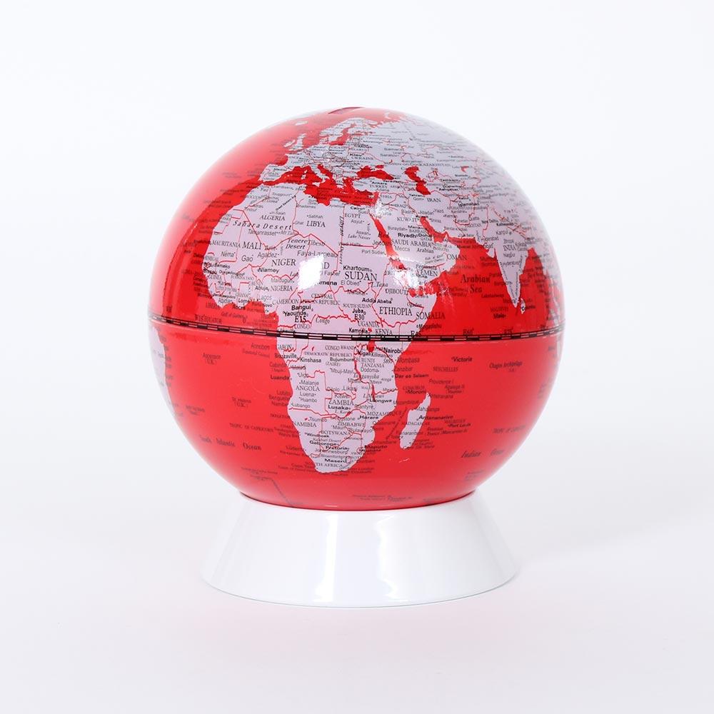 SkyGlobe 5吋紅色存錢筒地球儀(英文版)