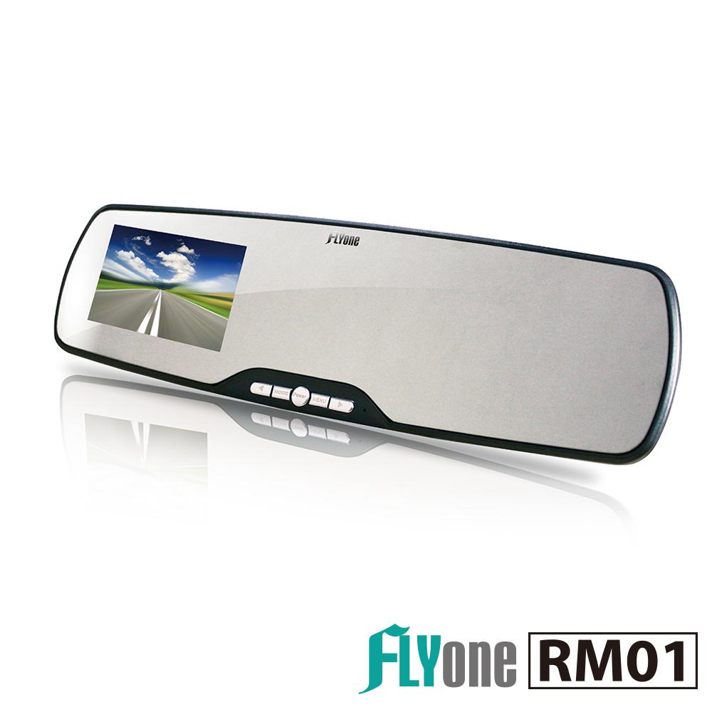 FLYone RM01超薄高畫質1080P WDR後視鏡行車記錄器