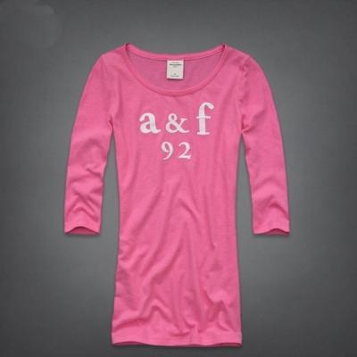 AF a&f Abercrombie & Fitch 長袖 小孩 T恤 粉紅色