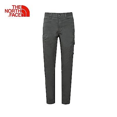 The North Face北面男款灰色舒適透氣徒步長褲