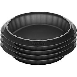 LEKUE 派餅烤模4入組(黑12cm)