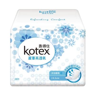 靠得住 蘆薈高透氧護墊-沐浴香氛14.5cm 28片x3包x8組/箱