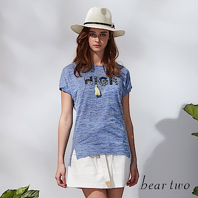 beartwo 熱情仲夏流蘇造型T恤(二色)