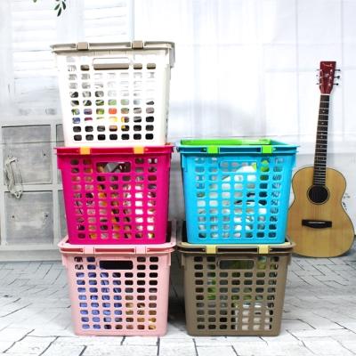 美樂麗 40L 好耐重 堆疊衣物收納籃-2入
